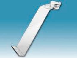 Slatwall Single Toe Hold Shoe Display - Clear
