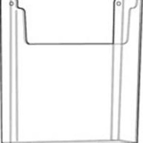 "4.0""x 9.0"" Wall Mount Brochure Holder - Clear - 4 Pack"