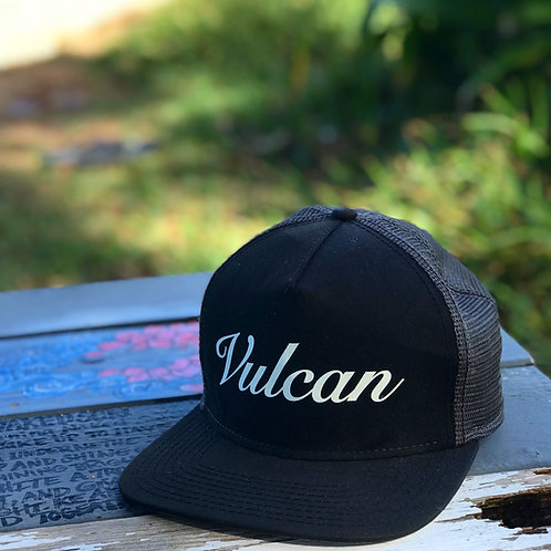 Vulcan Trucker Hat (Bone on Black)