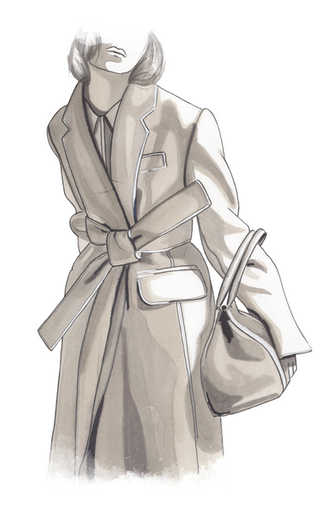 Girl in coat