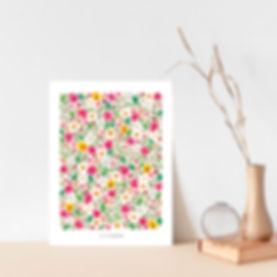 affiche d'herbier fleuri