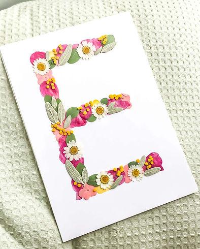 herbier lettre E sur mesure