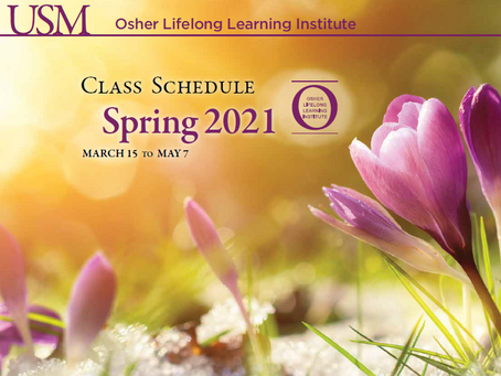 OLLI Spring 2021 Classes!