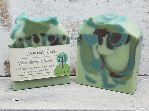 Woodland Elves Organic Artisan Soap - Hemp Oil - Vegan