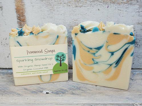 Sparkling Snowdrop Organic Artisan Soap - Floral