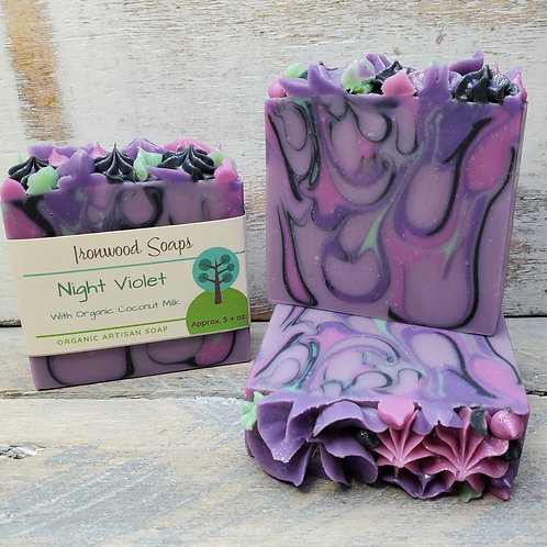 Night Violet Organic Artisan Soap - Floral