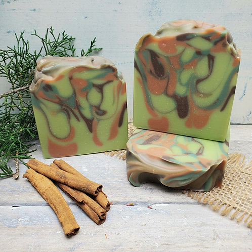Cinnamon Balsam Organic Artisan Soap - Hemp Oil - Coconut Milk