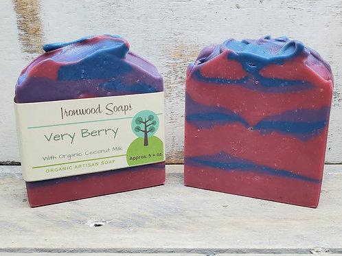 Very Berry Organic Artisan Soap - Coconut Milk - Shea Butter - Vegan