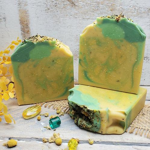 Pineapple Cilantro Organic Artisan Soap - Phthalate Free Fragrance - Hemp Oil -
