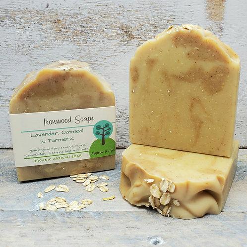 Lavender Oatmeal & Turmeric Organic Artisan Soap - Hemp Oil