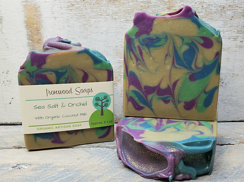 Sea Salt & Orchid Organic Artisan Soap