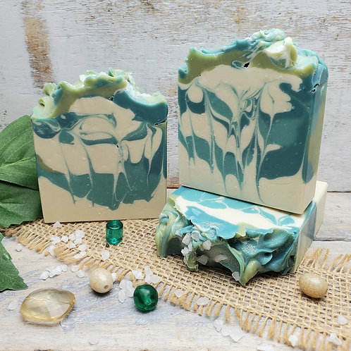 Cactus & Sea Salt Organic Artisan Soap - Handcrafted - Phthalate Free - Hemp Oil