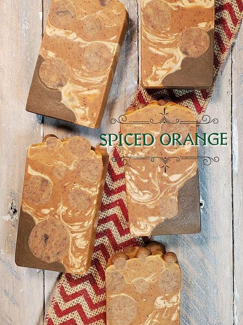 Spiced Orange Organic Artisan Soap - Essential Oils - Hemp Oil - Vegan
