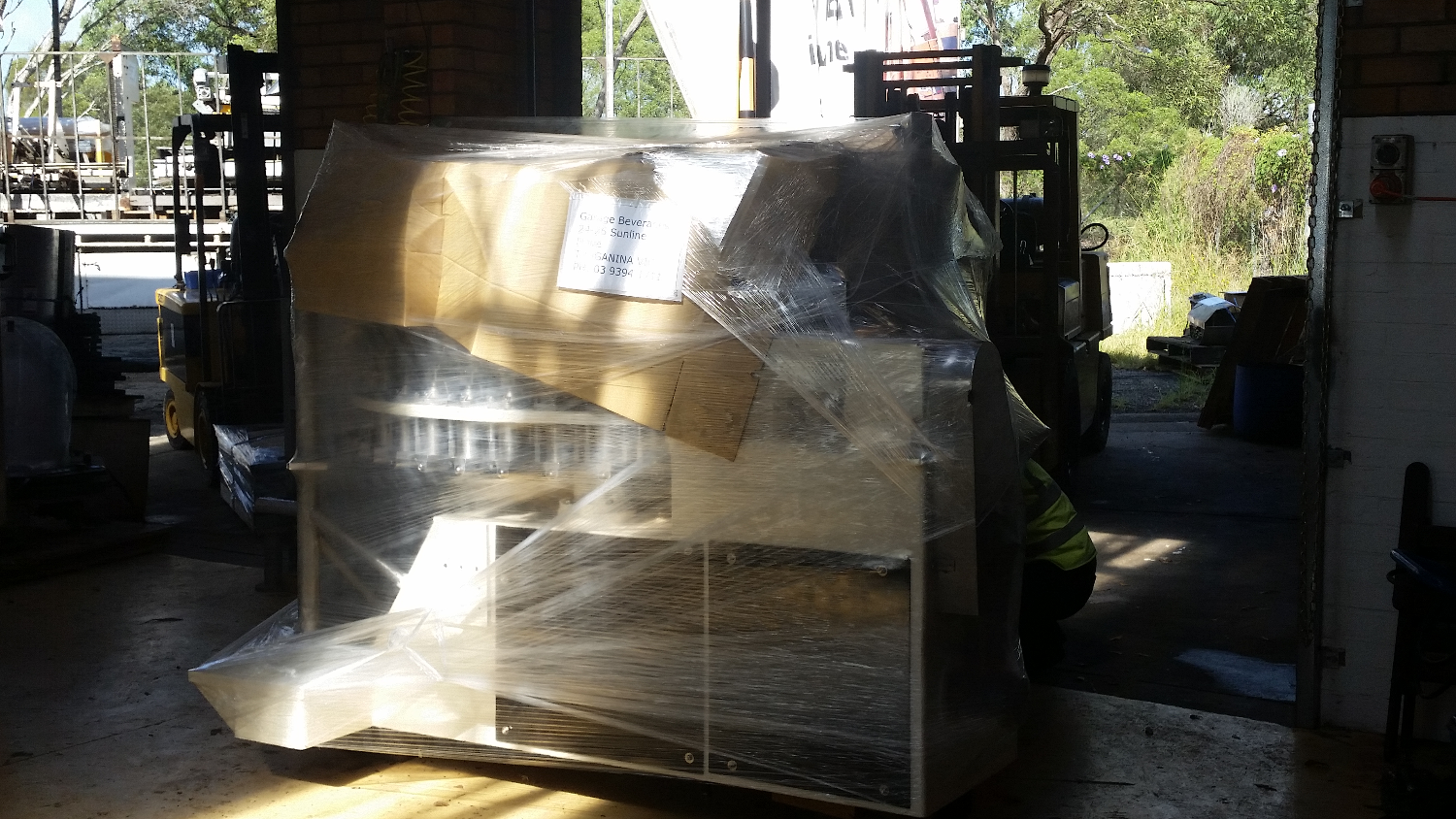 Meyer being shipped out to customer.