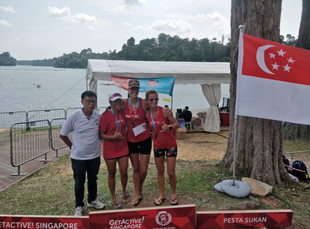 Gold, silver, bronze for SPC ladies in the first V1 race in Singapore