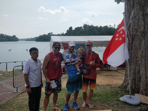 Gold, silver, bronze for SPC men in the first V1 race in Singapore