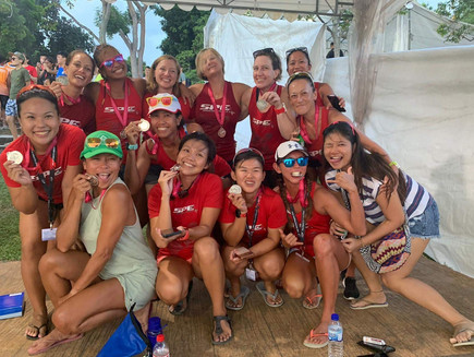 Women's Silver medal 2019 Singapore Dragon Boat Festival