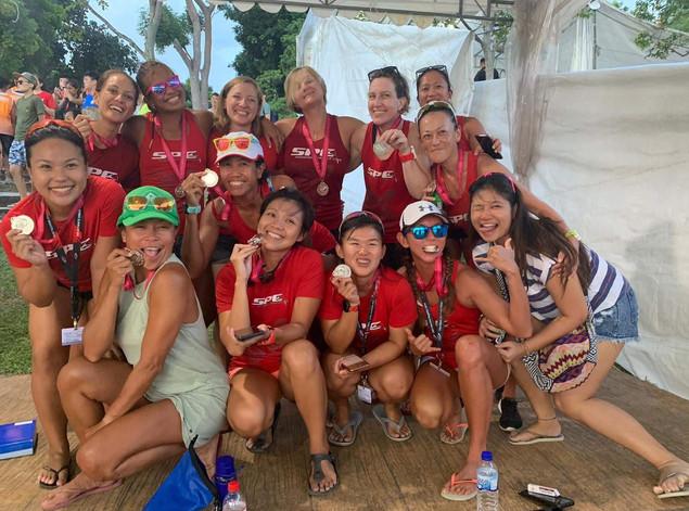 Women's Silver medal 2019 Singapore Dragon Boat Festival