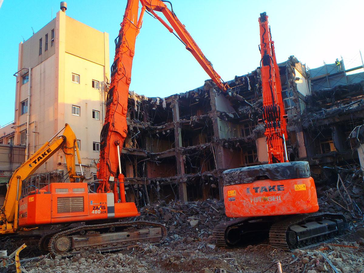 久留米第一病院解体工事