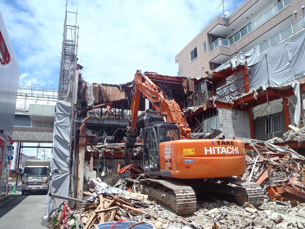 熊本震災健軍アーケードS造解体工事