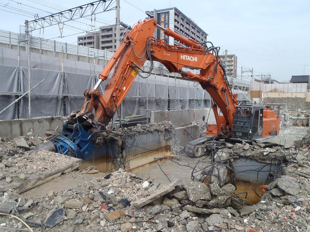 鶴の湯香椎店解体工事