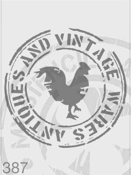 387: Vintage Rooster Sign