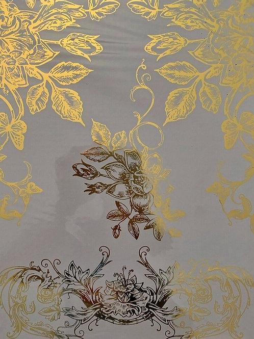 Gold Foil Transfer - Scrolls.