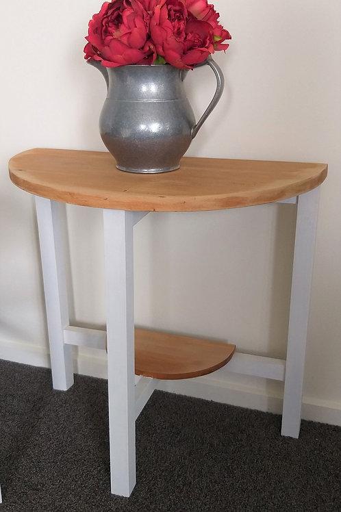 Half Moon Table with shelf