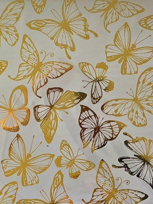 Gold Foil Transfer - Butterflies.