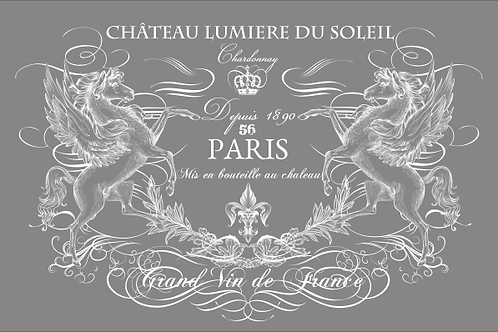 CHATEAU LUMIERE (WHITE) transfer - large