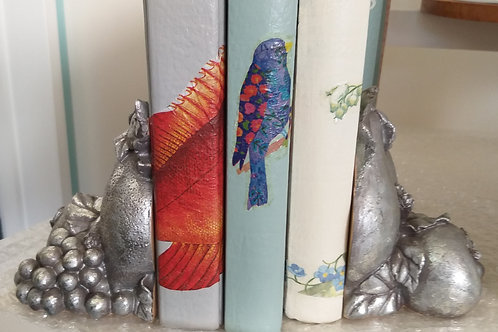 Pair of pewter look bookends