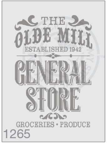 1265: Vintage Store Sign