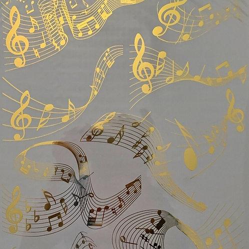 Gold Foil Transfer - Music