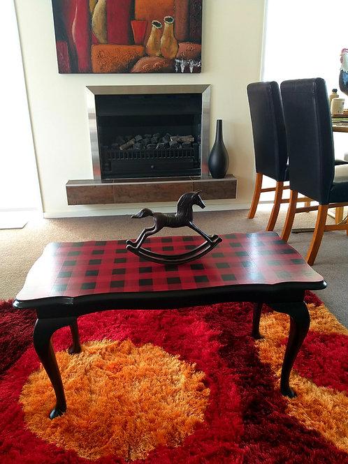 'Swandri' buffalo check coffee table