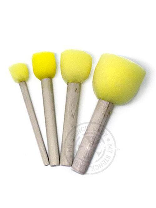 4 pk Stencil Sponges