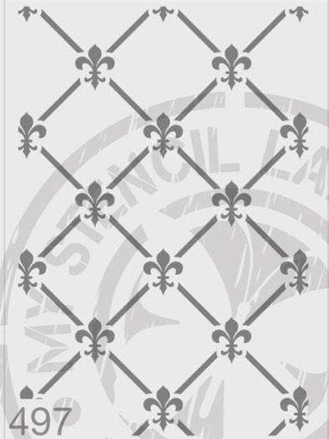 497: Fleur De Lis Grid