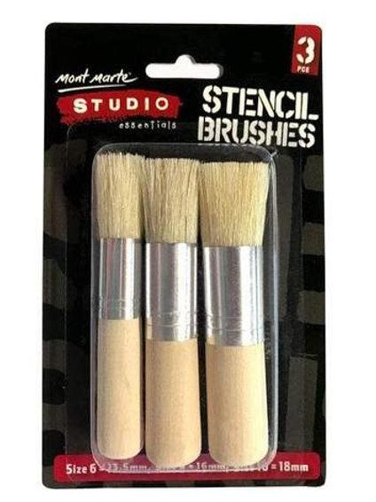 3 pk stencil brushes