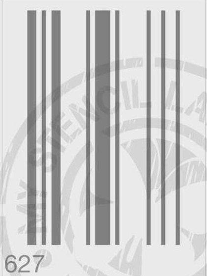627: French Grain Stripes