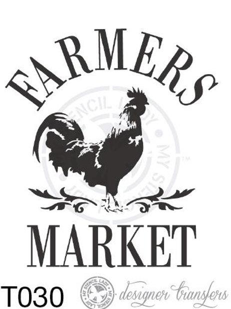 T030: A3 : Farmers Market (B n W)