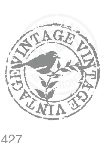 427: Vintage Bird Stamp