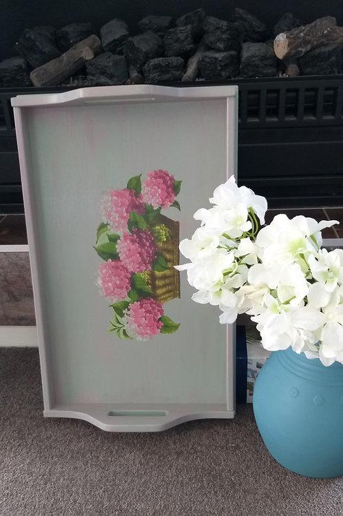 Wooden Hydrangea Tray