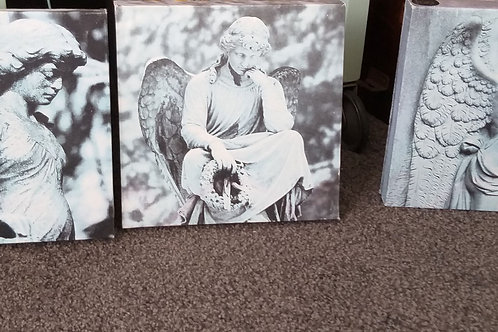 Set of 3 canvas Angel prints
