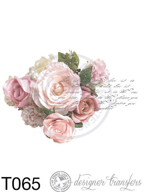 T065: A4 Dusky Roses & French Script