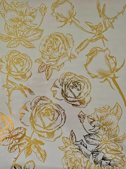 Gold Foil Transfer - Roses.