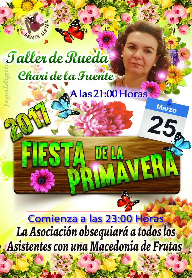 Fiesta de la Primavera y taller para el Sábado 25 de Marzo.