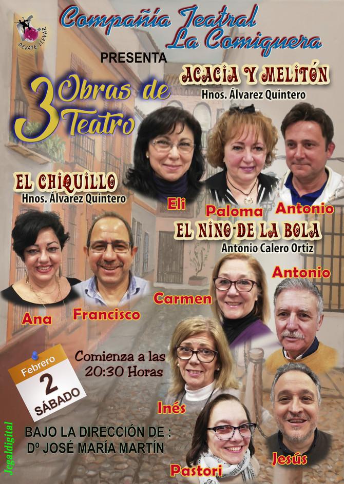 Obras de Teatro para el Sábado 2 de Febrero
