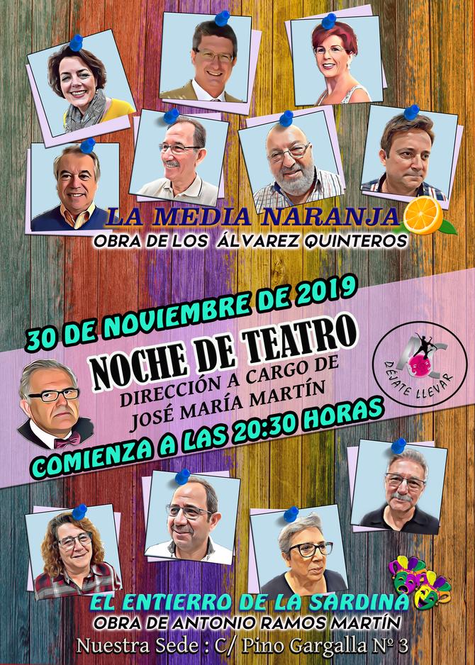 Obras de Teatro para el día 30 de Noviembre
