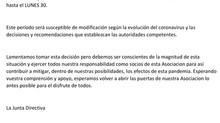 AVISO URGENTE   CIERRE DE LA ASOCIACIÓN