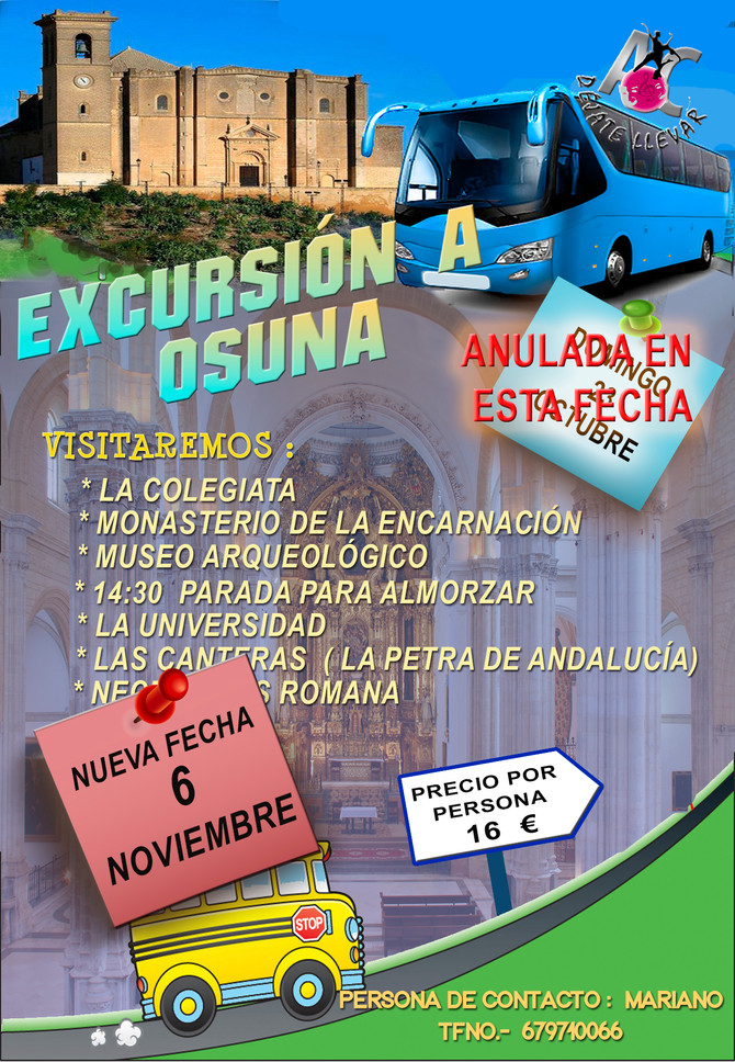Nueva fecha Excursión Osuna