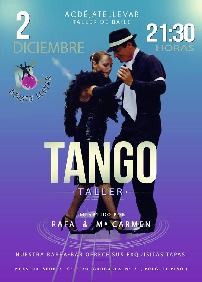 Taller Tango para el día 2 de Diciembre